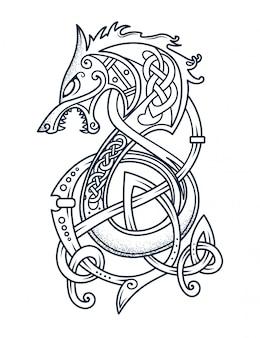 Emblem des tapferen wikingers