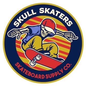 Emblem-design des skateboard-shops