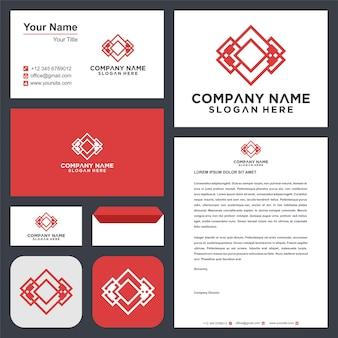 Emblem für luxusboutiquen-logo und visitenkartenprämie Premium Vektoren