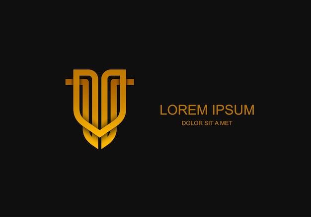 Emblem-logo der abstrakten geschäftsschablone, universelle idee der geschäftstechnologie