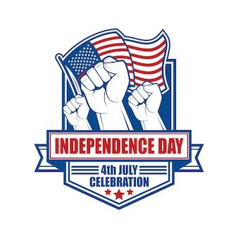 Emblem und symbol für den us-unabhängigkeitstag
