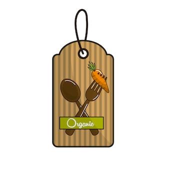 Emblem vegetarisches essen symbol lager