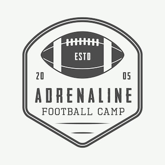Embleme des amerikanischen fußballs, logo.