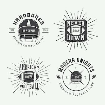 Embleme des amerikanischen fußballs