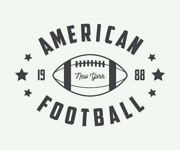 Embleme des amerikanischen fußballs.
