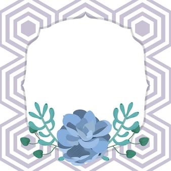 Emblemrahmen mit wüstenpflanzen