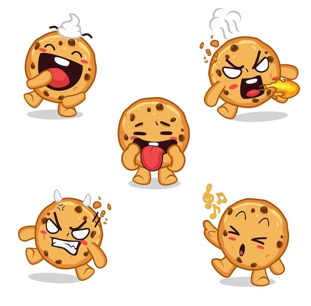 Emoji aufkleber kekse charakter cartoon