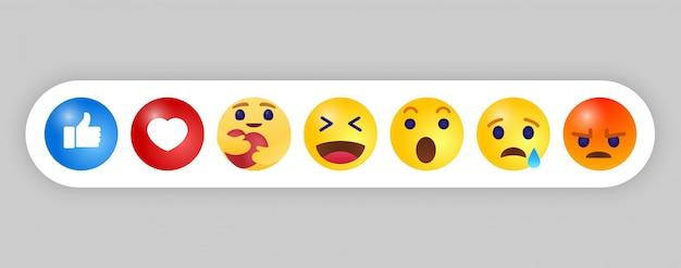 Emoji emoticon. trend design style, social media symbol Premium Vektoren