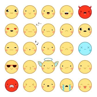 Emoji emoticons set