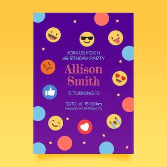 Emoji geburtstagseinladungsschablone