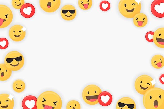 Emoji gerahmter hintergrund