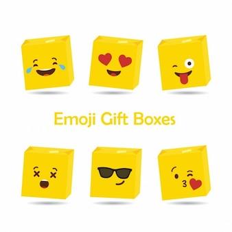 Emoji geschenkboxen