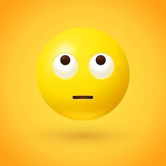 Emoji gesicht mit rollenden augen