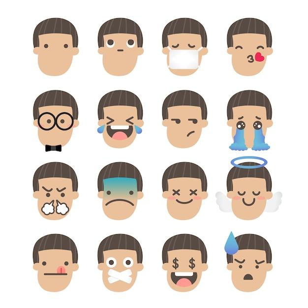Emoji-junge