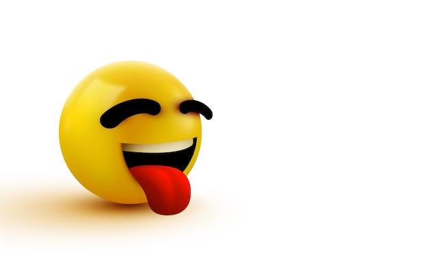 Emoji-lächelndes gesicht mit herausgestreckter zunge