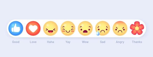 Emoji-reaktionen eingestellt