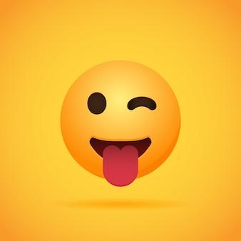 Emojis lächeln der emoticonkarikatur für social media auf orange. illustration