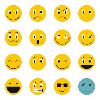 Emoticon icons set