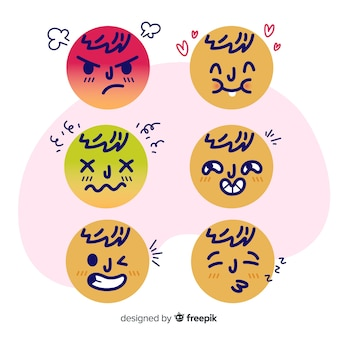 Emoticon reaktion collectio