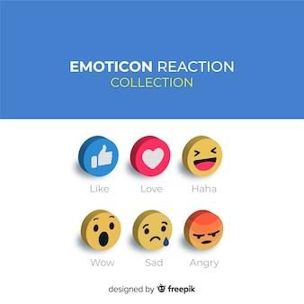 Emoticon-reaktionssammlung