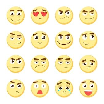 Emoticon-set sammlung von emoji