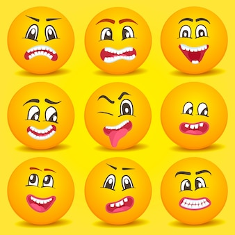 Emoticon-smiley-cartoon-satz