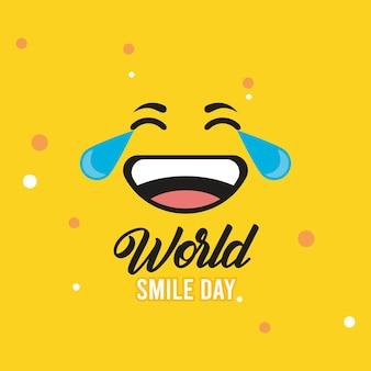 Emoticon zum weltlächeln-tag