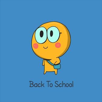Emoticon zurück in die schule