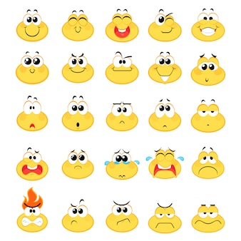 Emoticons emoji smile icons