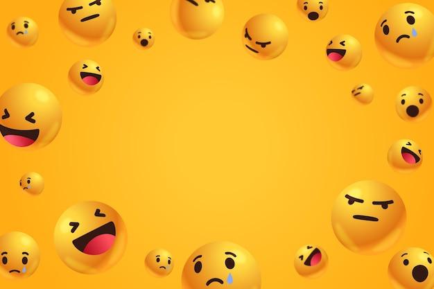 Emoticons mit leerem raumhintergrund