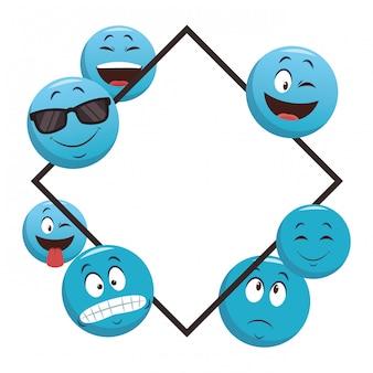 Emoticons-rahmenkonzept