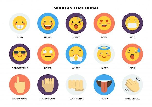 Emotionale symbole für unternehmen festgelegt