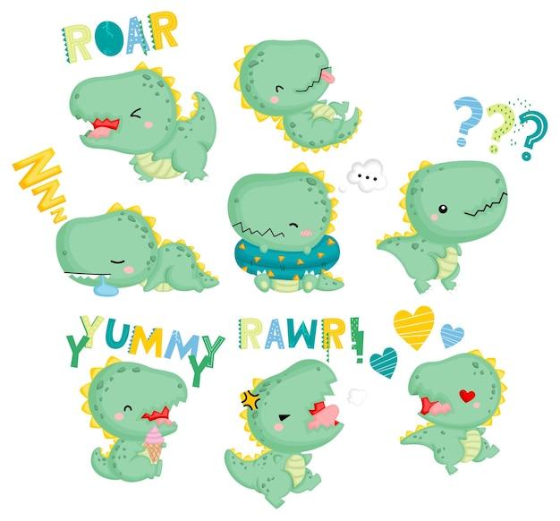 Emotionaler baby-dinosaurier