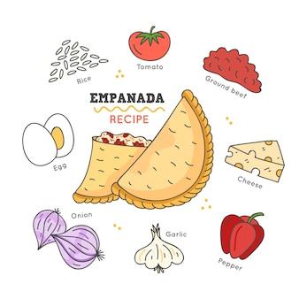 Empadana-rezept für tomaten und gemüse