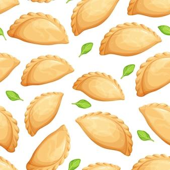 Empanadas nahtloses muster.
