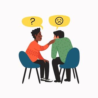 Empathie- und mitgefühlskonzept