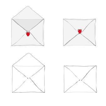 Empfangen oder senden von liebesbriefen zum valentinstag.