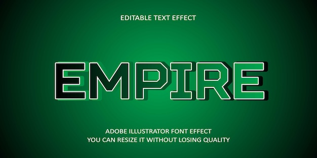Empire editierbarer text font effekt