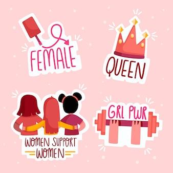 Empowering feministische aufkleber gesetzt