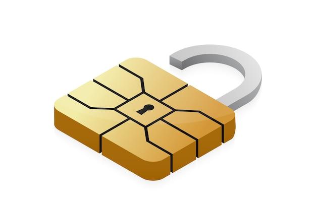 Emv-chip-vorhängeschloss für kreditkarten