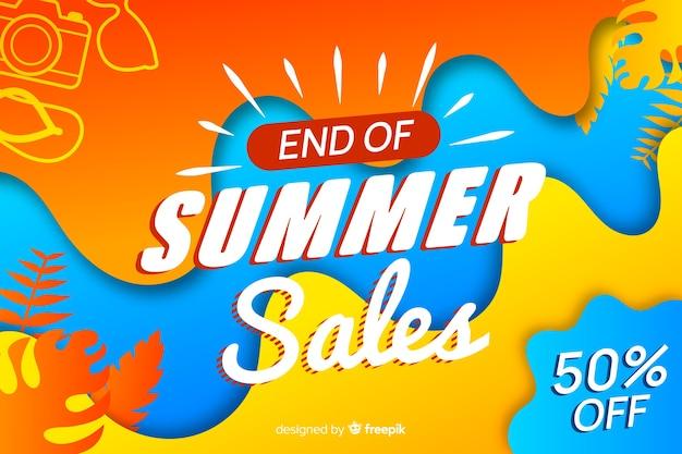 Ende der sommerschlussverkauf hintergrund