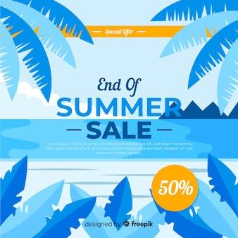 Ende des sommerschlussverkaufhintergrundes