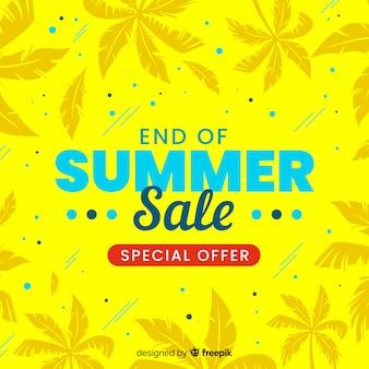 Ende des sommerschlussverkaufs hintergrund