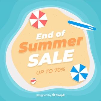 Ende des sommerschlussverkaufsstrandhintergrundes