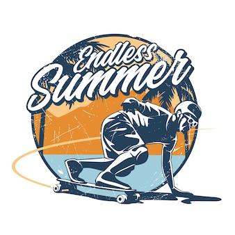 Endless summer long board skate