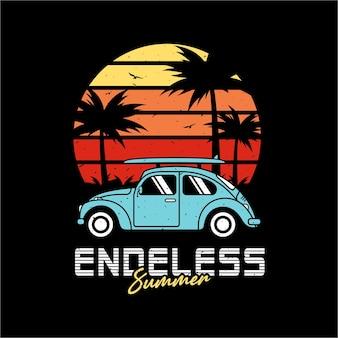 Endless summer premium design illustration