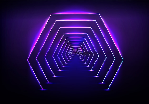 Endlose optische täuschung des tunnels