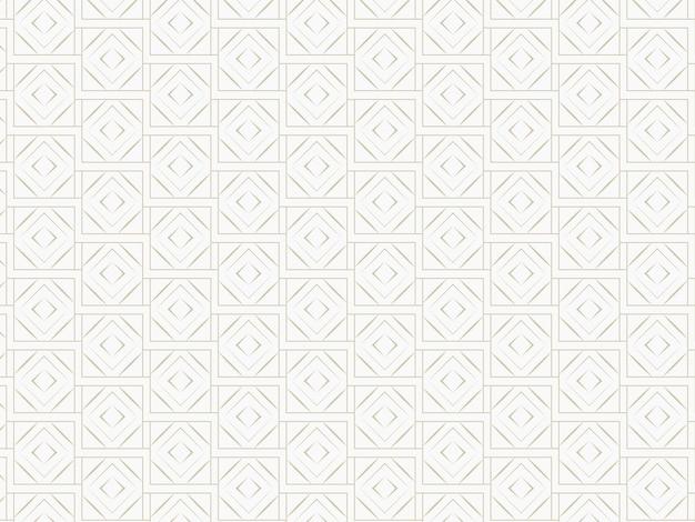 Endlose überlappende diamant-quadrat-muster-hintergrund.