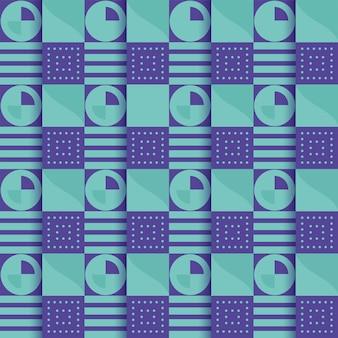Endloser abstrakter geometrischer quadratischer musterhintergrund in der schwarzen und grauen farbe.