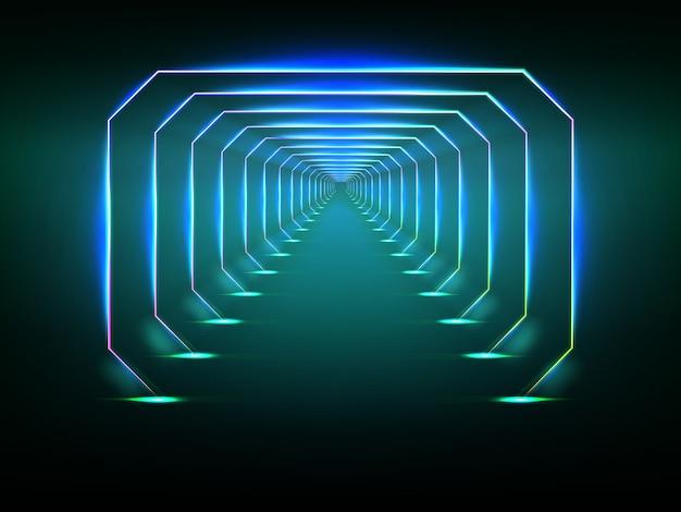 Endloser futuristischer tunnel